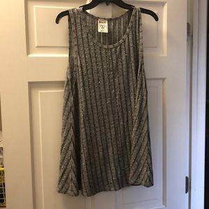 Grey sparkle tunic